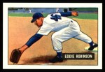 1951 Bowman Reprints #88  Eddie Robinson  Front Thumbnail