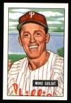 1951 Bowman REPRINT #77  Mike Goliat  Front Thumbnail