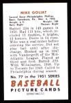1951 Bowman REPRINT #77  Mike Goliat  Back Thumbnail