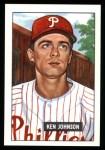 1951 Bowman REPRINT #293  Ken Johnson  Front Thumbnail
