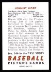 1951 Bowman REPRINT #146  Johnny Hopp  Back Thumbnail