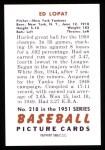 1951 Bowman REPRINT #218  Eddie Lopat  Back Thumbnail