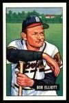 1951 Bowman REPRINT #66  Bob Elliott  Front Thumbnail