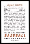 1951 Bowman REPRINT #69  Johnny Schmitz  Back Thumbnail