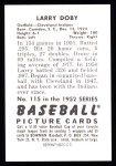 1952 Bowman REPRINT #115  Larry Doby  Back Thumbnail