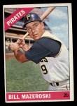 1966 Topps #210  Bill Mazeroski  Front Thumbnail