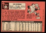 1969 Topps #63  Jim Hickman  Back Thumbnail