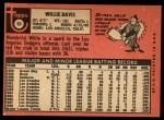 1969 Topps #65  Willie Davis  Back Thumbnail