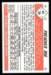 1953 Bowman B&W Reprint #26  Preacher Roe  Back Thumbnail