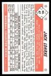 1953 Bowman B&W Reprint #47  Jack Lohrke  Back Thumbnail