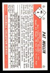 1953 Bowman B&W Reprint #4  Pat Mullin  Back Thumbnail