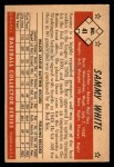1953 Bowman Reprints #41  Sammy White  Back Thumbnail