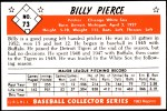 1953 Bowman REPRINT #73  Bill Pierce  Back Thumbnail