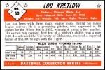 1953 Bowman Reprints #50  Lou Kretlow  Back Thumbnail