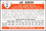 1953 Bowman Reprints #88  Joe Dobson  Back Thumbnail