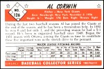 1953 Bowman REPRINT #126  Al Corwin  Back Thumbnail