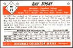 1953 Bowman REPRINT #79  Ray Boone  Back Thumbnail
