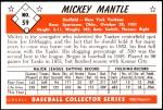 1953 Bowman Reprints #59  Mickey Mantle  Back Thumbnail