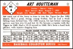 1953 Bowman REPRINT #4  Art Houtteman  Back Thumbnail