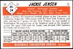 1953 Bowman REPRINT #24  Jackie Jensen  Back Thumbnail