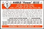 1953 Bowman REPRINT #33  Pee Wee Reese  Back Thumbnail
