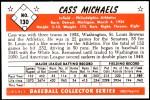 1953 Bowman Reprints #130  Cass Michaels  Back Thumbnail