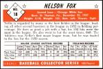 1953 Bowman REPRINT #18  Nellie Fox  Back Thumbnail