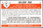 1953 Bowman REPRINT #18  Nellie Fox  Back Thumbnail