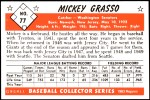 1953 Bowman REPRINT #77  Mickey Grasso  Back Thumbnail