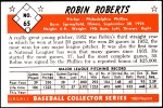 1953 Bowman Reprints #65  Robin Roberts  Back Thumbnail