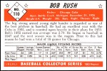 1953 Bowman REPRINT #110  Bob Rush  Back Thumbnail