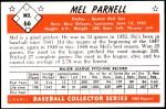 1953 Bowman REPRINT #66  Mel Parnell  Back Thumbnail