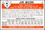1953 Bowman REPRINT #37  Jimmy Wilson  Back Thumbnail