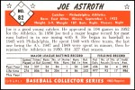 1953 Bowman Reprints #82  Joe Astroth  Back Thumbnail