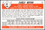 1953 Bowman REPRINT #146  Early Wynn  Back Thumbnail