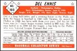 1953 Bowman REPRINT #103  Del Ennis  Back Thumbnail