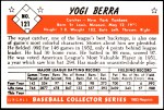 1953 Bowman REPRINT #121  Yogi Berra  Back Thumbnail