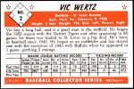 1953 Bowman REPRINT #2  Vic Wertz  Back Thumbnail