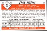 1953 Bowman REPRINT #32  Stan Musial  Back Thumbnail
