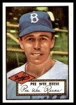 1952 Topps Reprints #333  Pee Wee Reese  Front Thumbnail