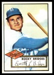 1952 Topps Reprints #239  Rocky Bridges  Front Thumbnail