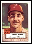 1952 Topps REPRINT #221  Granny Hamner  Front Thumbnail