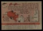 1958 Topps #222  Bud Daley  Back Thumbnail