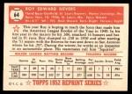 1952 Topps Reprints #64  Roy Sievers  Back Thumbnail