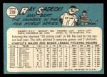1965 Topps #230  Ray Sadecki  Back Thumbnail