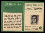 1966 Philadelphia #102  Merlin Olsen  Back Thumbnail