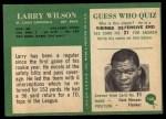 1966 Philadelphia #168  Larry Wilson  Back Thumbnail
