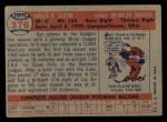 1957 Topps #376  Don Elston  Back Thumbnail