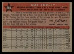 1958 Topps #493   -  Bob Turley All-Star Back Thumbnail