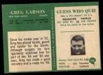 1966 Philadelphia #124  Greg Larson  Back Thumbnail